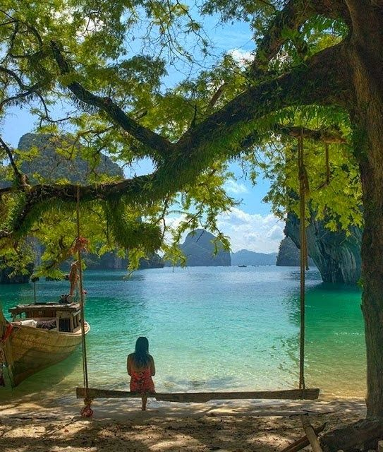 Peaceful Setting at Krabi, Thailand Hier ben ik…
