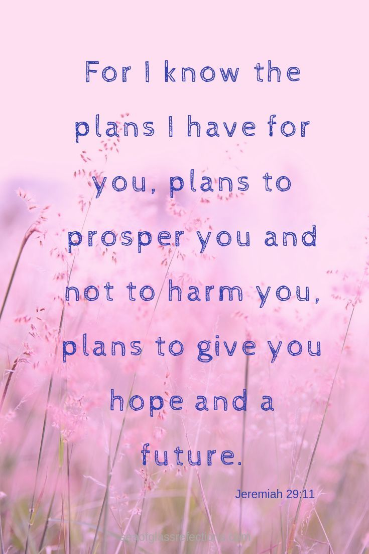 God has wonderful plans for you! We are promised…